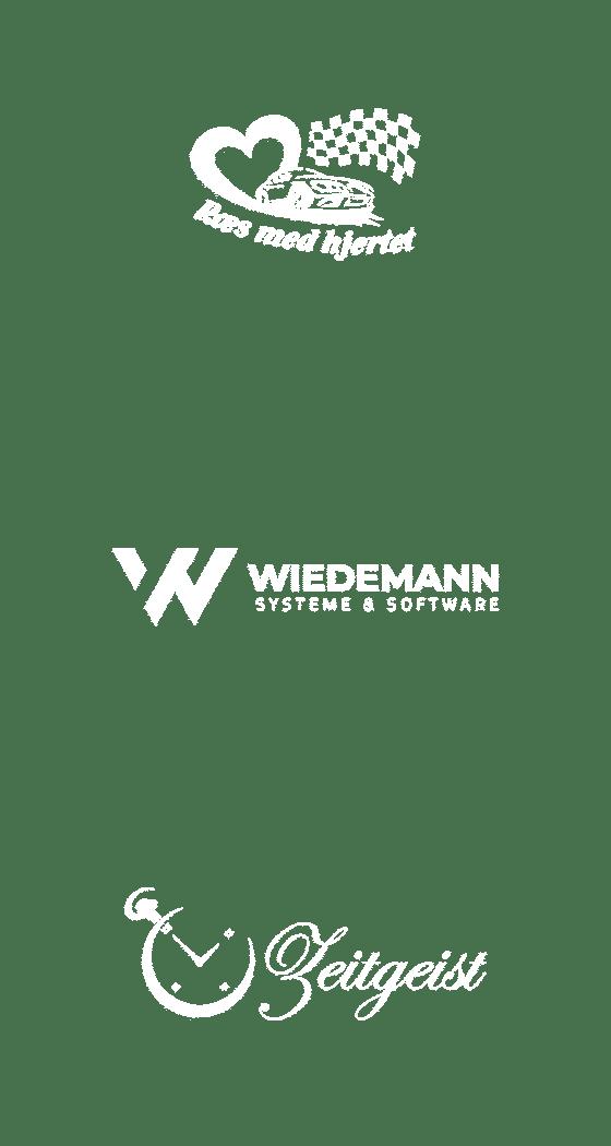 logos kunden raes med hjertet wiedemann systeme zeitgeist spiele